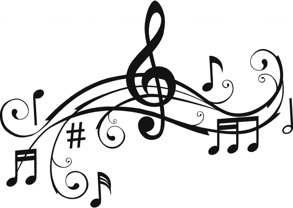 1024x728 Music Notes Drawings Free Printable Music Note Coloring Pages