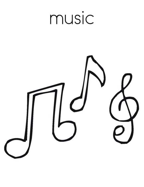 600x776 Treble Clef Is Music Note Coloring Page Color Luna