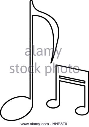 300x427 Drawing Music Note Sound Melody Symbol Stock Vector Art