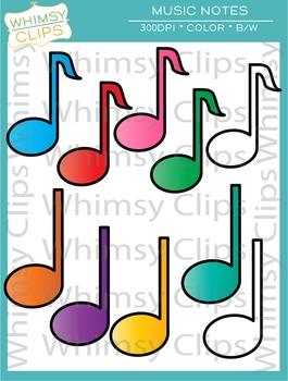 265x350 Free Music Notes Clip Art By Whimsy Clips Teachers Pay Teachers