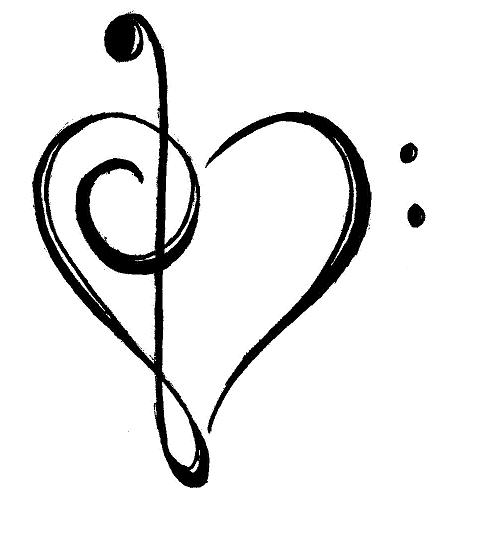 483x558 Free Music Notes Heart Clipart Image