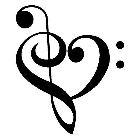 468x468 Heart Music Notes Clipart
