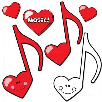 350x350 Music Note Clip Art Music Notes In Heart Design By Dancing