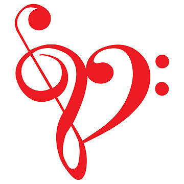 360x360 Music Notes Clipart Red Heart