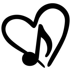 300x300 Silhouette Design Store Music Note Love Little Bit Of T L C