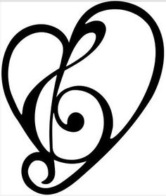 236x278 Treble Clef Music Heart, Treble
