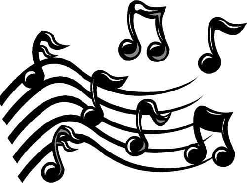 500x372 Free Clipart Of Music Notes
