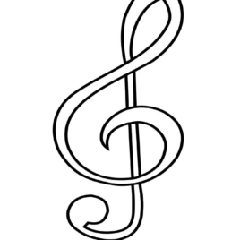 268x268 Free Printable Music Note Coloring Pages For Kids Coloring Page