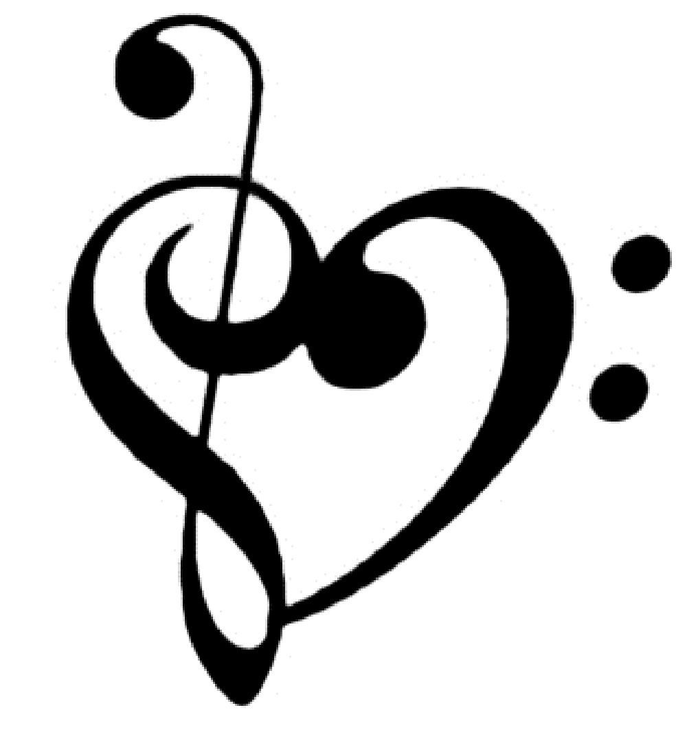 1000x1085 Heart Music Notes Clipart