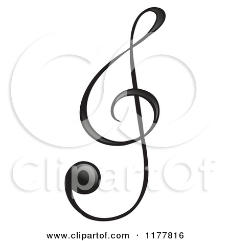450x470 Cartoon Of A Black Treble Clef Music Note
