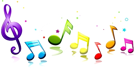 450x231 Colorful Music Notes Clipart