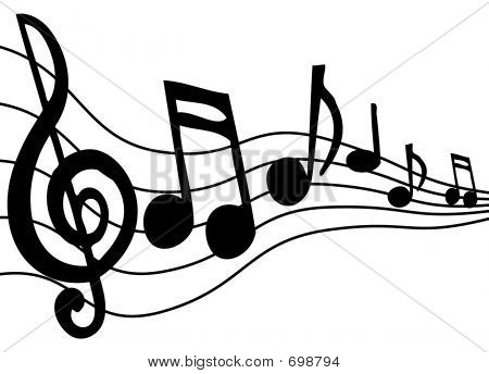 450x344 Music Notes On A Staff Clipart