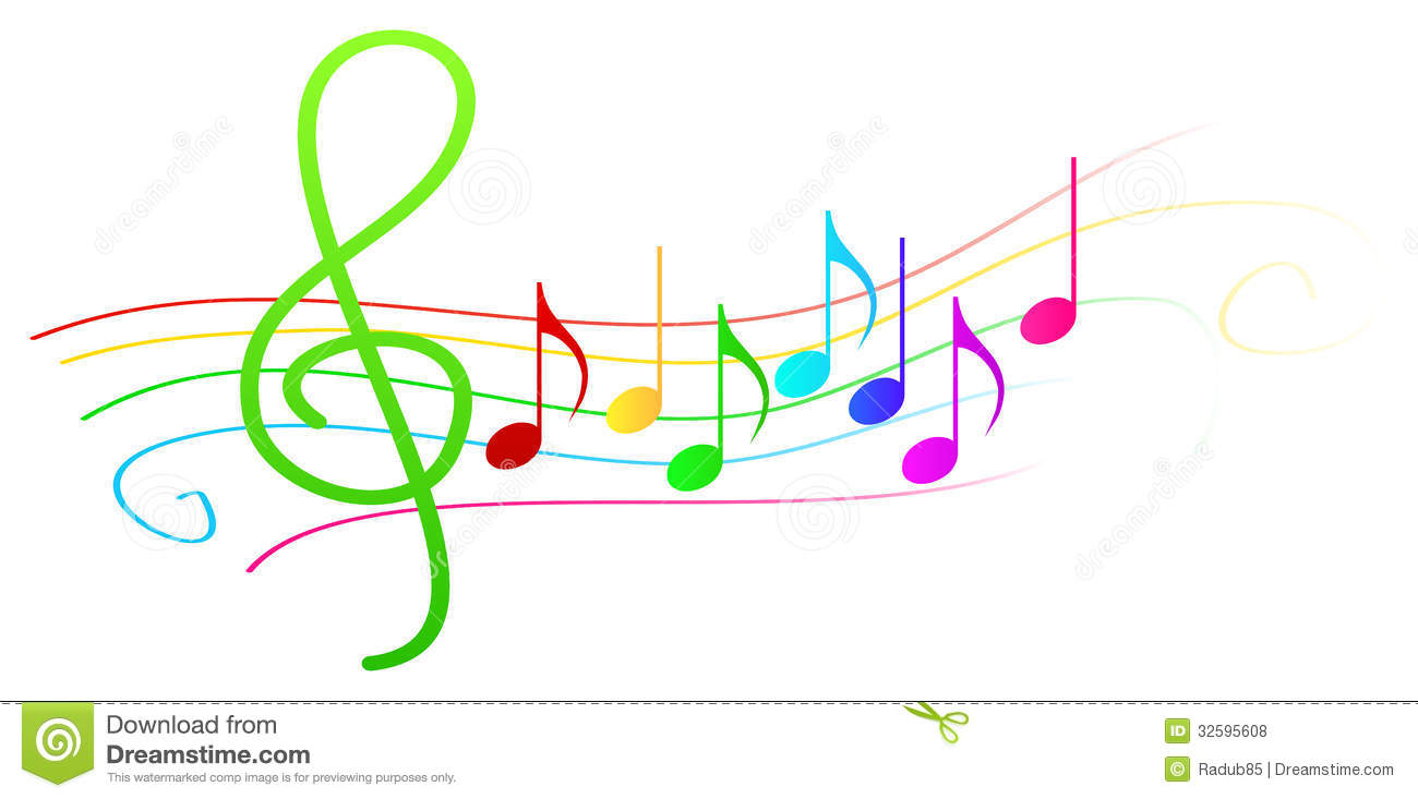 1300x733 Music Notes Clipart Colorful Music Staff