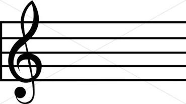 369x206 Music Staff Clipart