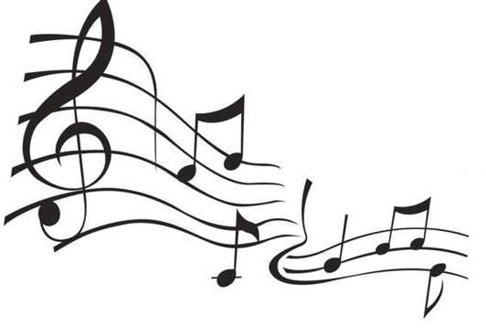 532x368 Black Music Notes Clipart