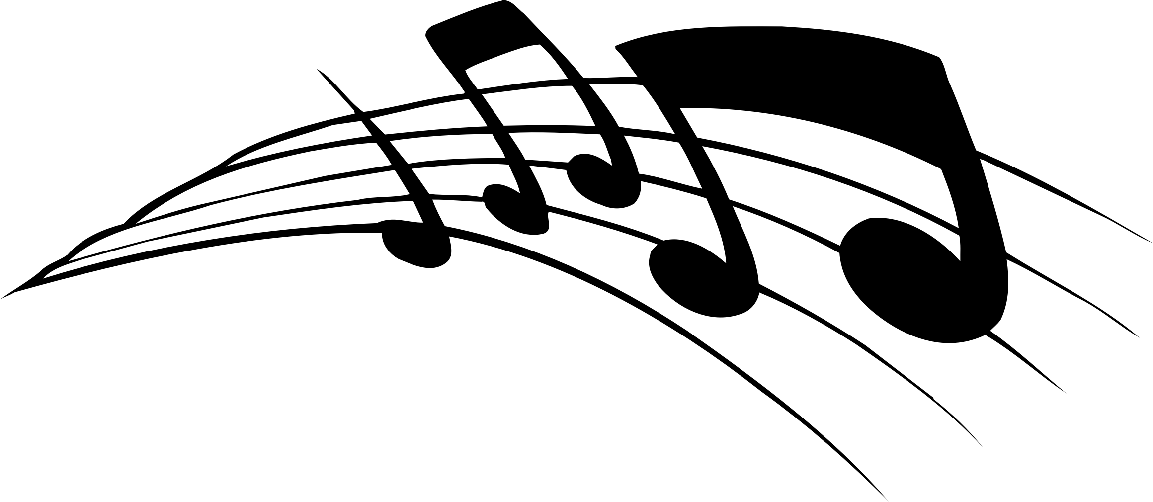 2320x1010 Music Staff Clipart Raseone Music Notes