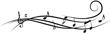 362x113 Music Staff Music Notes On Staff Clipart Musical Free 3