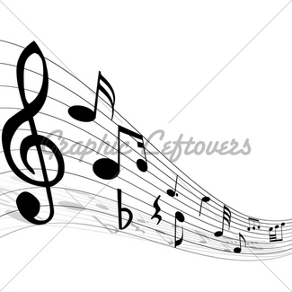 325x325 Musical Staff, Clef And Pen Gl Stock Images
