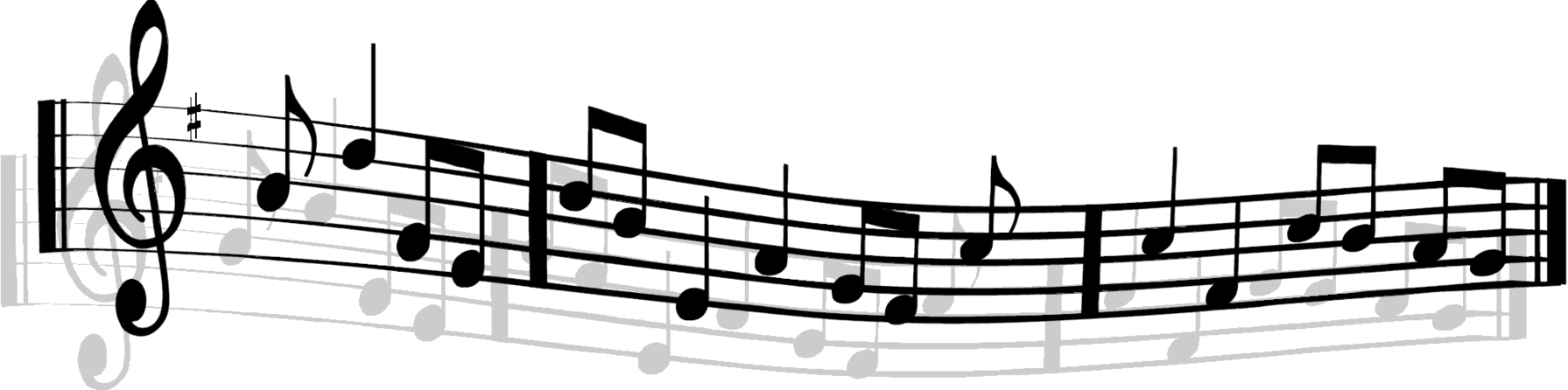 1791x446 Free Clipart Musical Notes