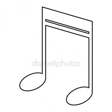 450x450 Note Music Audio Sound Outline Stock Vector Jemastock
