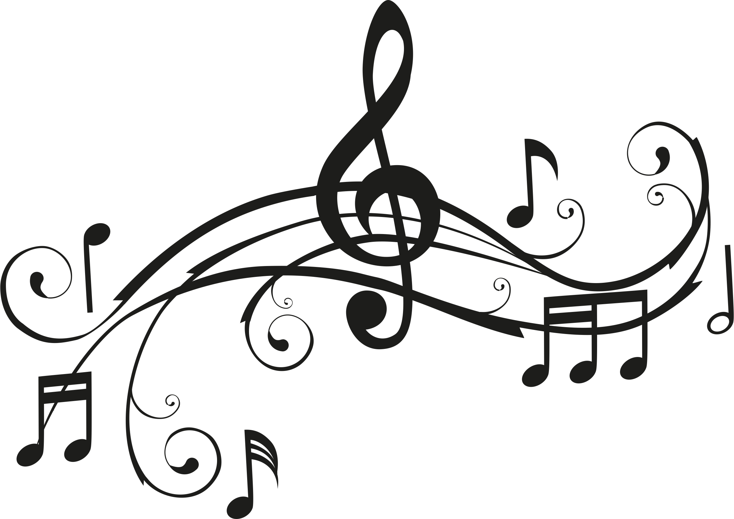 2364x1672 PrintWallArt Musical Notes
