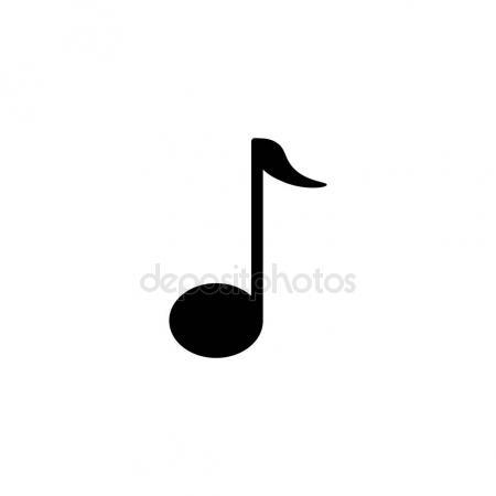 450x450 Pictogram Music Notes Icon. Black Icon On White Background