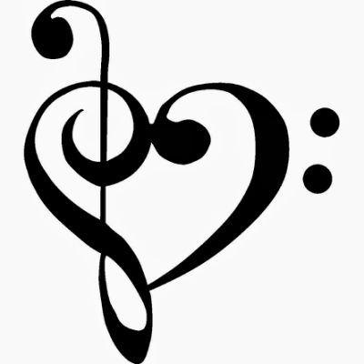400x400 Best Music Heart Ideas Love Music Tattoo, Music