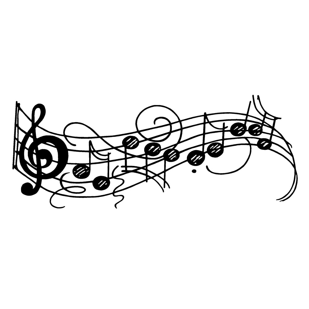 1000x1000 Music Notes Clipart Wavy