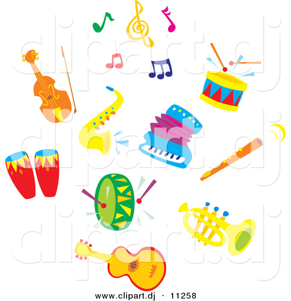 600x620 Colorful Music Notes Clipart
