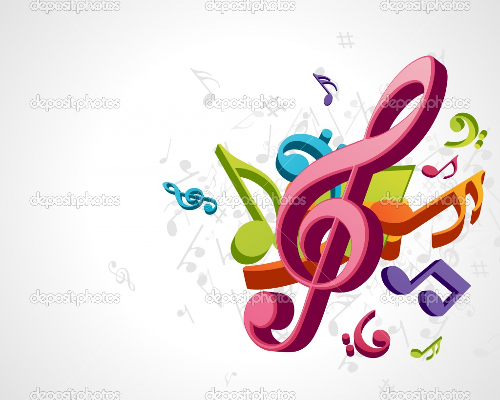 1024x819 Colorful Music Notes Clipart
