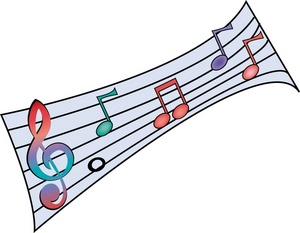 300x233 Colorful Musical Notes Symbols Clipart Panda