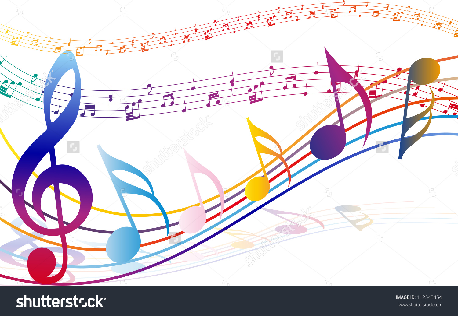 1500x1038 Colorful Music Notes Clipart Transparent