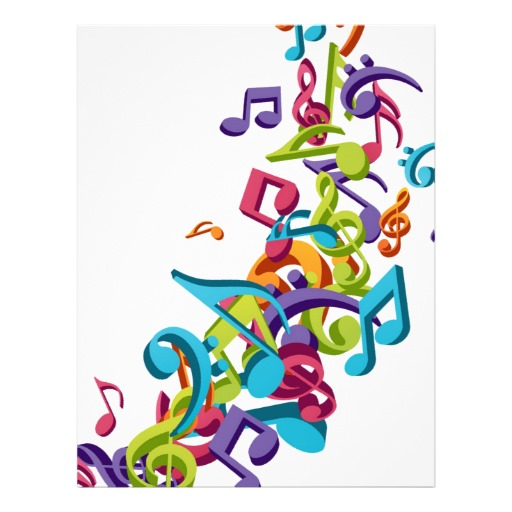 512x512 Cool Colorful Music Notes Clipart