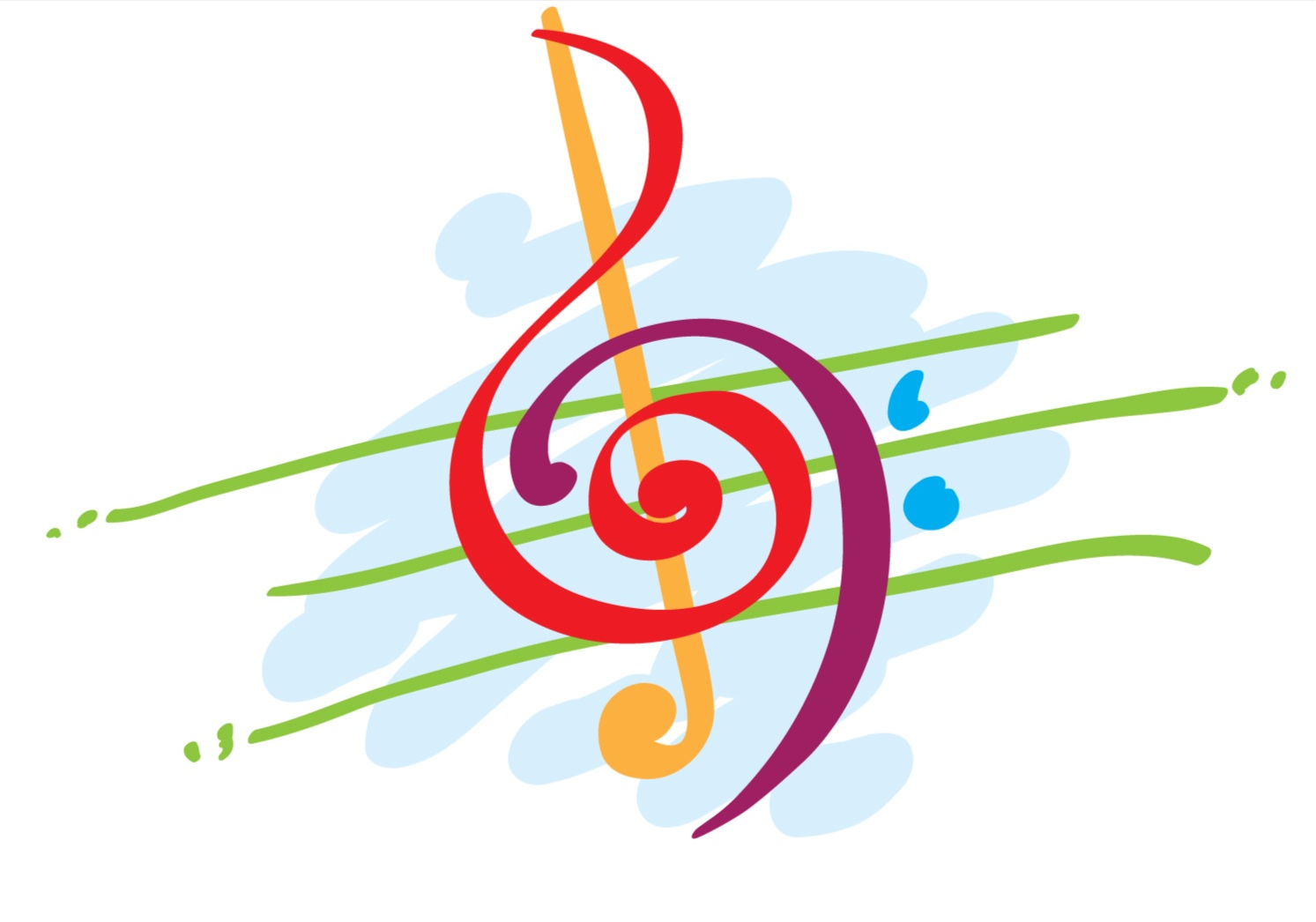 1493x1046 Free Colorful Music Notes Clipart Image