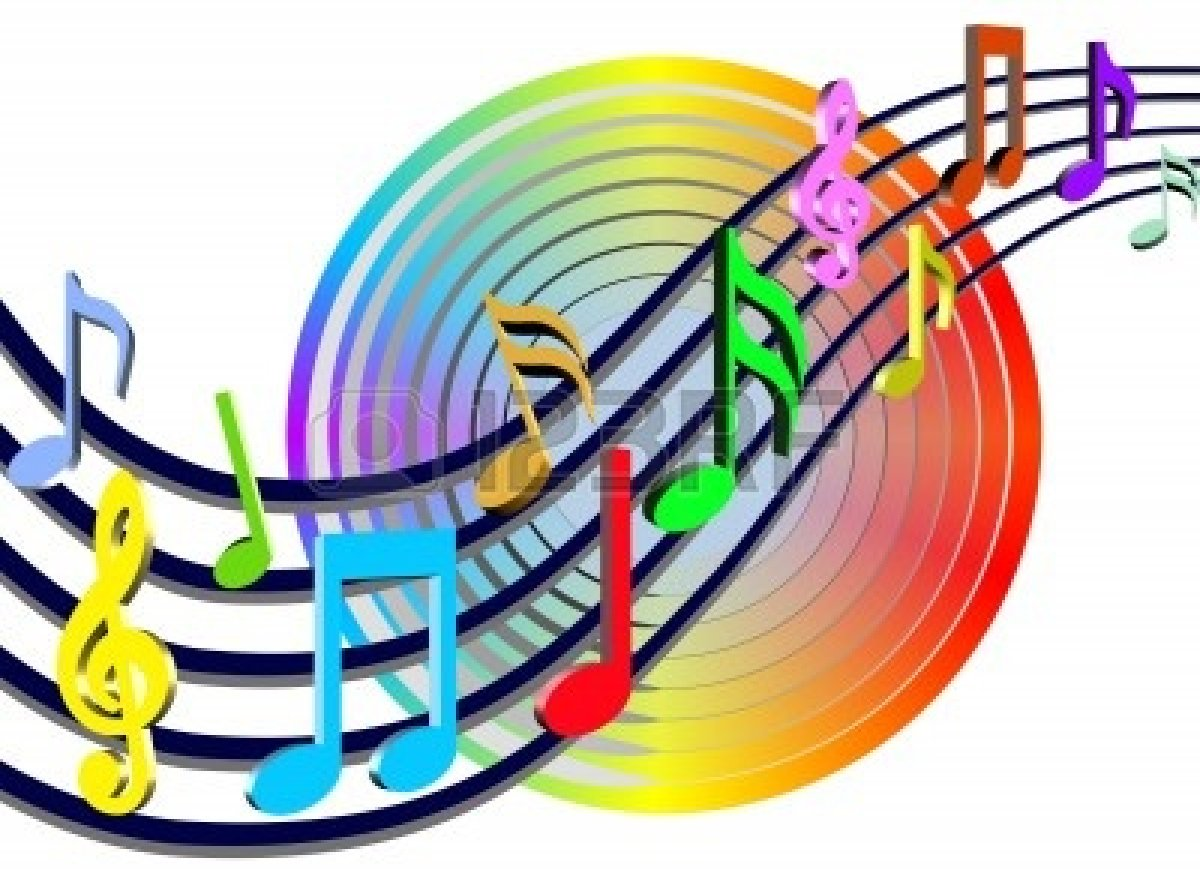 1200x882 Free Colorful Music Notes Clipart Image
