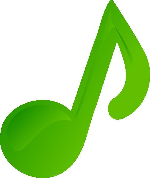 504x596 Green Music Note Clip Art