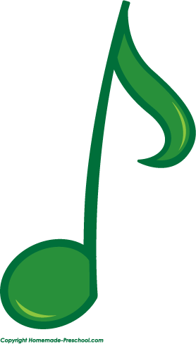 278x489 Green Clipart Music Note
