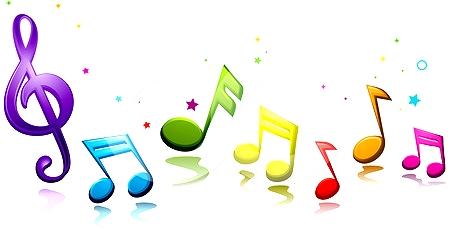 450x231 Music clipart colourful