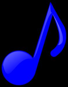 234x297 Blue Music Note Clip Art