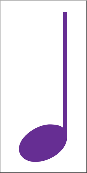 304x604 Clip Art Music Notation Quarter Note Color I abcteach