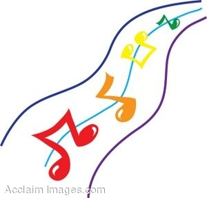 300x286 Clip Art Picture Of Colorful Music Notes