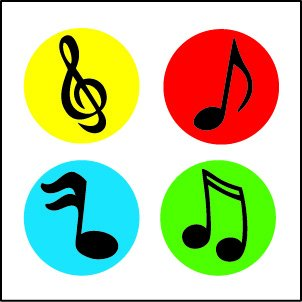 302x302 Cheap Music Notes Colorful, Find Music Notes Colorful Deals