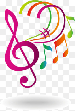 260x383 Stylish, Colorful, Gradual, Musical Notes, Logo, Gradient Color
