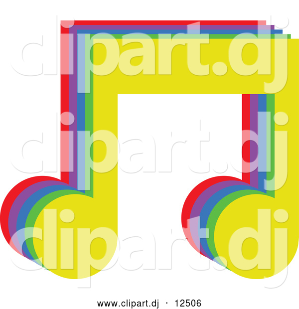 600x620 Vector Clipart Of Colorful Music Notes By Prawny