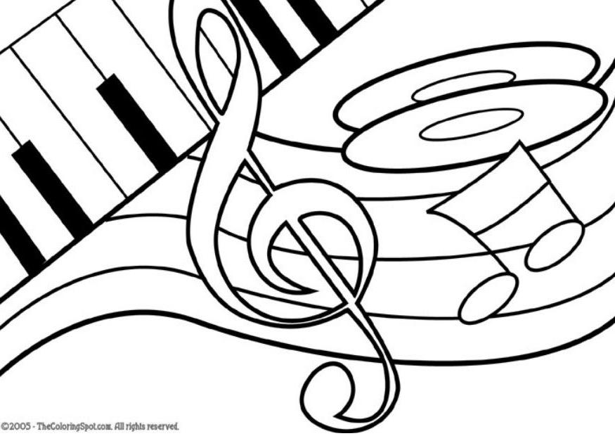 Music Notes Coloring Page Free Download Best Music Notes Coloring