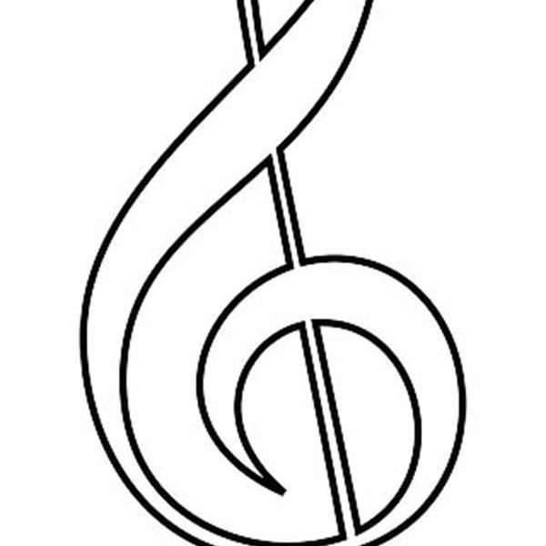 600x600 Free Printable Music Notes Coloring Pages Clef Of Music Notes