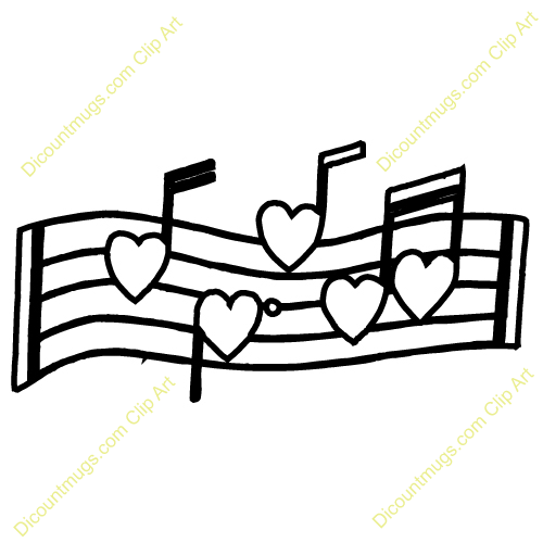 500x500 Heart Musical Note Coloring Pages