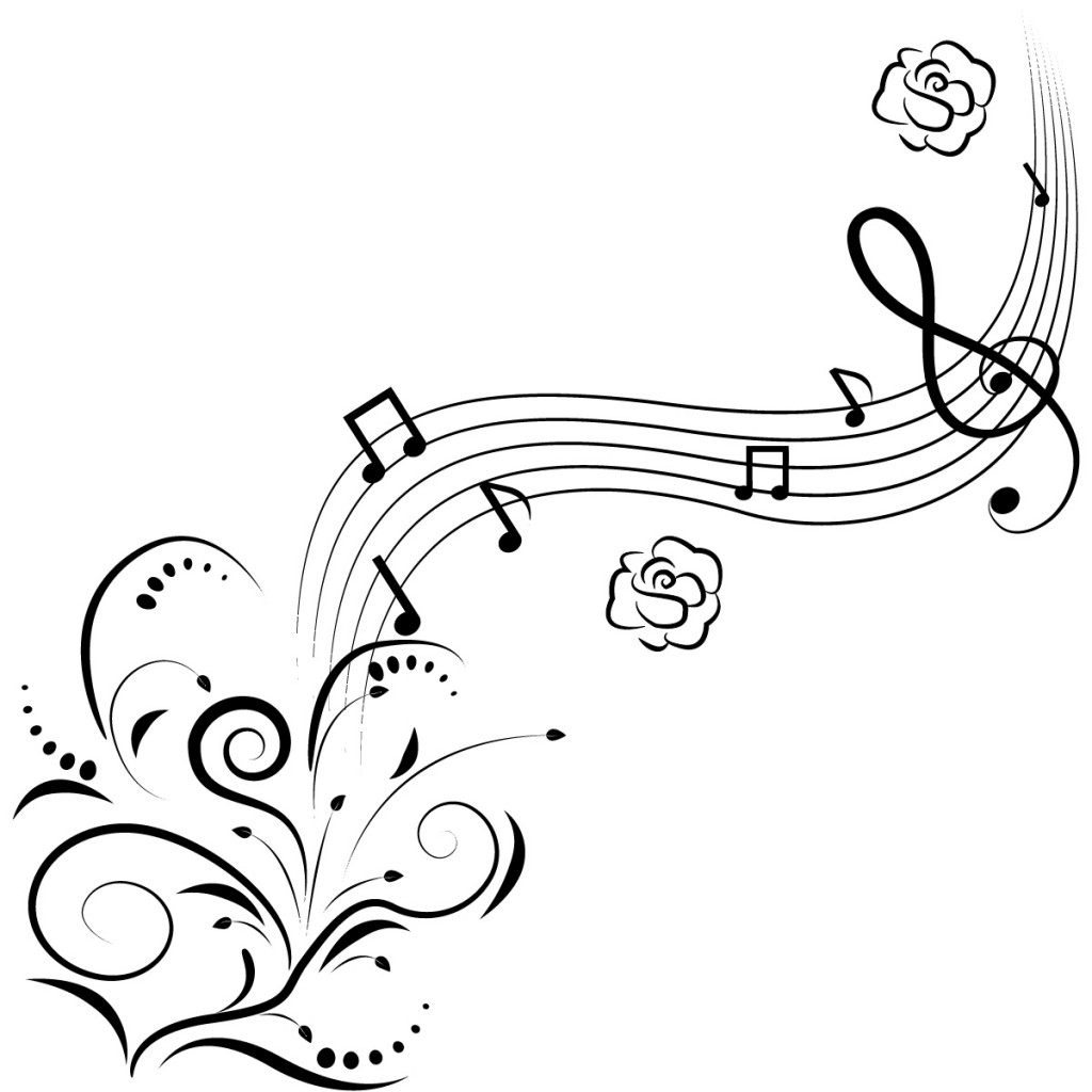 1024x1024 Cool Tattoos On Coloring Pages For Girls With Music Notes In Good