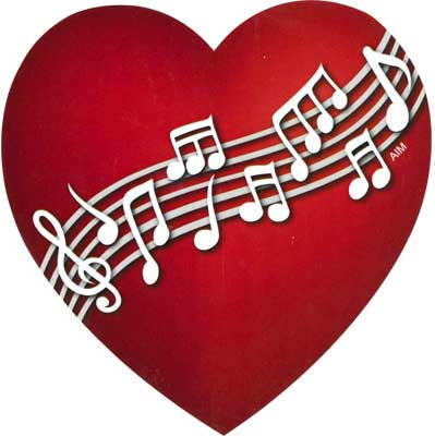 Music Notes Heart   Free download best Music Notes Heart on