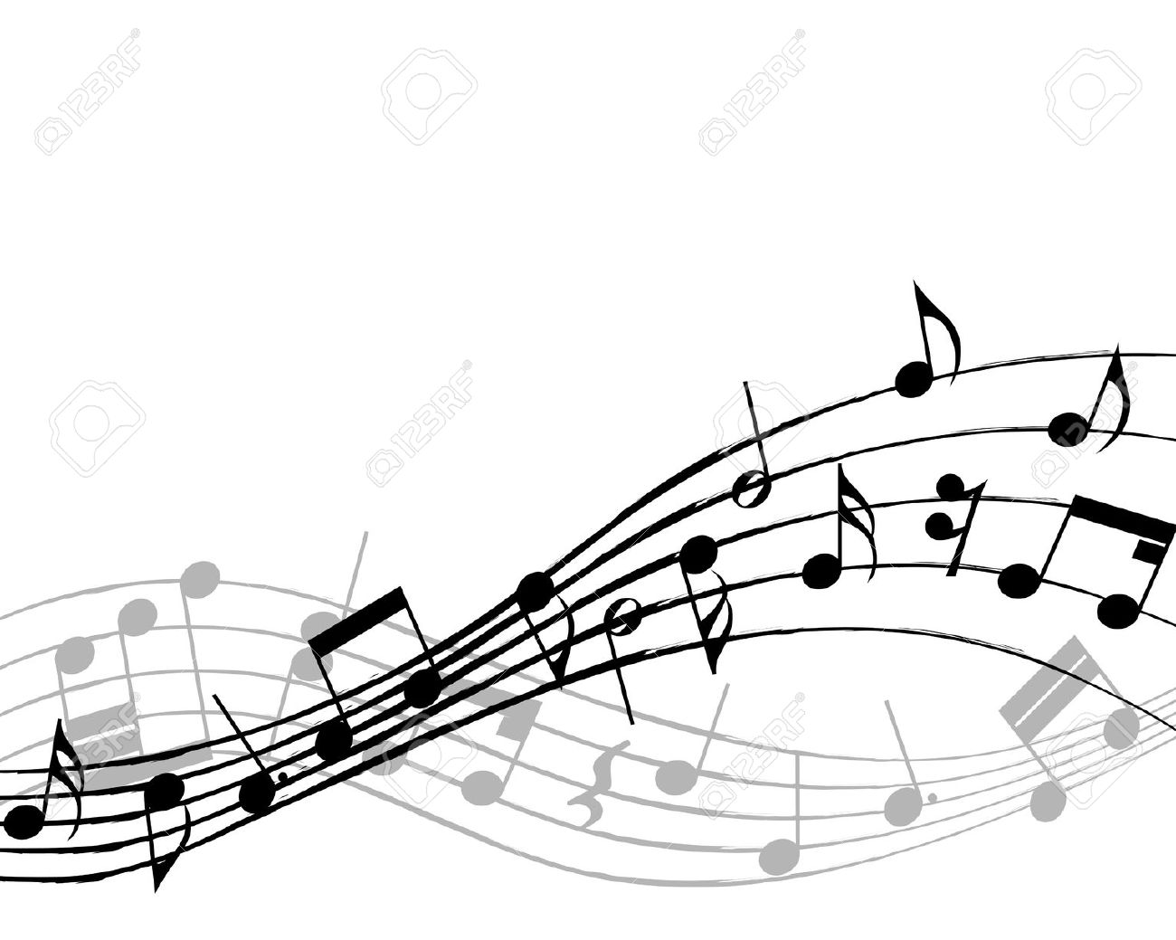 1300x1039 Music Notes Clipart Row